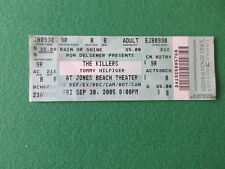 THE KILLERS TOMMY HILFIGER AT JONES BEACH THEATER 2005 TICKET STUB