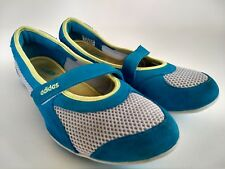 adidas Fit Foam Comfort Womens Size 8 Blue Slip-On Mary Jane Flats Walking Shoes