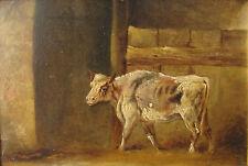 Filippo PALIZZI (Vasto 1818-Napoli 1899) Motivo di stalla Bozzetto OLIO anno1850