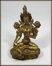 """""""Tibetan Bronze Buddha""""  (8.25"""" High x 5"""" Wide x 4.5"""" Deep)  Wonderful Casting!"""