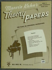 Marvin Kahn Theory Papers Book 3 Upper Intermediate New-Old Stock Free Ship
