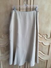 Charter Club Camel Tan Long A-Line Silk Skirt Fully Lined Size 8 NWT
