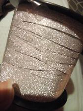 ruban gris pailleté vendu en 1 mètre- 5 mm
