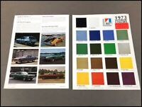 1973 AMC Color Paint Guide Car Brochure Sheet - Gremlin Javelin Hornet Matador