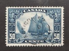 Canadian 1929 Blue Nose 50 cent postage stamp #158 ~  used ~ F/VF ~ Superfeas