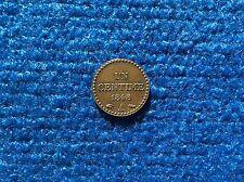 IIème République   1 centime Dupré 1848 A  bronze Superbe
