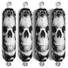 Dark Skull Shock Covers Arctic Cat 366 400 425 450 500 550 650 700 950 (Set 4)