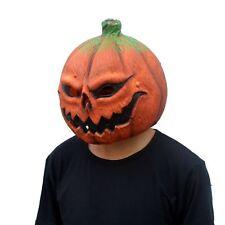 Creepy Halloween Props Pumpkin Latex Mask Cosplay Masquerade Adult Melmet Masks