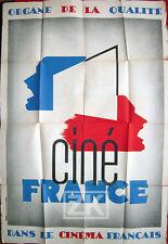CINE FRANCE Cinéma Protectionnisme Propagande Politique Pavaux FRANK Aff 1936