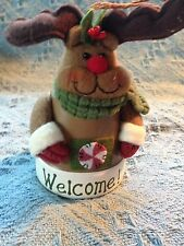 """NOS AVON MOOSE """"WELCOME!"""" BELL CHRISTMAS ORNAMENT"""