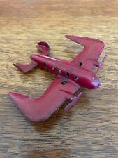 Vintage Wyandotte Futuristic Red Passenger Plane Airplane
