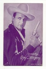 Ray Corrigan 1940's Salutations Cowboy Purple Exhibit Arcade Card