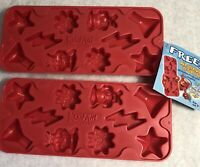 Kool Aid Ice Cube Trays Lot of 2 Mad Scientist Red 2003 Promo with Tag