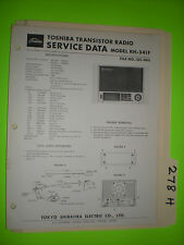 Toshiba rh-541 f service manual original repair book transistor radio