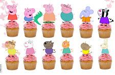 24 x PEPPA PIG Commestibili Per Cupcake Decorazioni per Torta (Uncut)