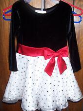 Bonnie Jean Girls Dress 4T Long Sleeve Holiday Christmas Wedding Church