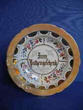 handgemalter Porzellanteller Zum Patengeschenk um 1890 Hutschenreuther Selb