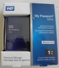 1TB My Passport Ultra Secure Portable External Hard Drive