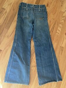 ASPENGLO bell bottoms 80's jeans festival hippie flare wide Mark 32 Fits 28 RARE