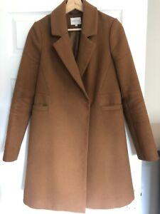 Warehouse Tan Brown Coat Size 10