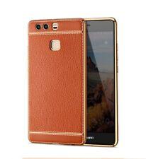 Huawei P8 Lite 2017 Étui Coque Téléphone Portable Protection Pochette de Braun