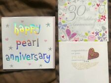 Choice of 3 designs for 30th Anniversary, Happy Pearl Wedding, Congratulations