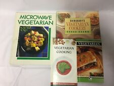 4x Vegetarian Cooking Books Sainsbury's Microwave Cooking What's Cooking?