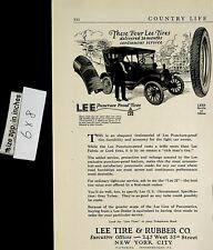 1922 Lee Tire & Rubber Co Puncture Proof Vintage Print Ad 6336