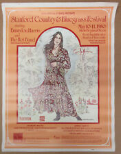 EMMYLOU HARRIS Stanford Country & Bluegrass Festival 1980 CONCERT POSTER VG