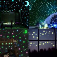 100pcs Glow In The Dark Star Noctilucent Wall Sticker Luminous Kid Bedroom Decor