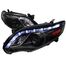 2011-2013 Toyota Corolla LED DRL Projector Headlights Black Housing TRD CE Sport