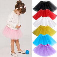 HK- Toddler Kids Girl Multi Layers Tulle Elastic Waist Skirt Tutu Princess Dress