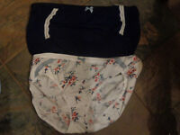 2 PAIR CACIQUE PANTIES BLUE FULL BRIEF+ FLORAL EXTRA SOFT HIPSTER SIZE 18/20 NEW