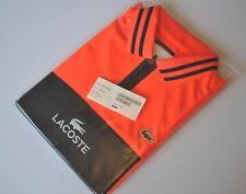 LACOSTE SPORT Orange Black SS Polo neck shirt Top Ultra Dry Men's Sz. XS - BNWT