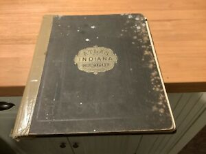 1871 Original Atlas Indiana County Pennsylvania Beers Colored Maps Poor Covers