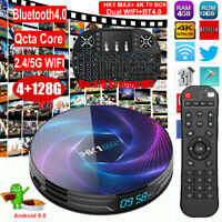 HK1 MAX+ 4+128G Qcta Core Android 9.0 Keyboard TV BOX 5G WIFI BT H.265 64Bit 3D