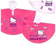 Hello Kitty Capa de Lluvia Poncho Estilo Capa De Lluvia En Rosa