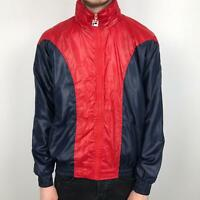 Vintage FILA WHITE LINE Hooded Track Jacket | 90s Sport Classic | Medium M Red