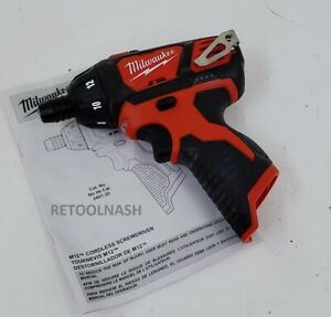 """Milwaukee 2401-20 M12 Cordless 1/4"""" Hex Screwdriver (Tool-Only)"""
