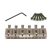 Graph Tech PG-8000-00 Brushed Chrome String Saver Saddle Set for Strat & Tele