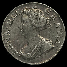 More details for 1706 queen anne early milled silver maundy threepence