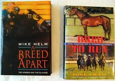 Lot of 2 Signed Copies of Mike Helm Thoroughbred Horse Racing Books L8