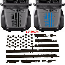 51x90cm Black USA Flag Style Large Graphics Decal Sticker For Car Hood Window