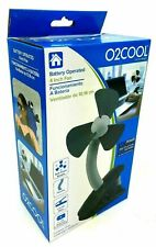 O2Cool Battery Operated 4 inch fan Black Clip on New