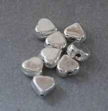 925 Silber Zwischenteile, Spacer Perlen, Charms, DIY Vintage Schmuck, Herz