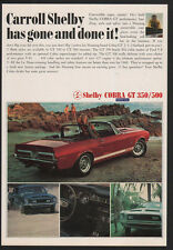 1968 FORD SHELBY COBRA GT 350 & 500 Convertible Muscle Car - MUSTANG VINTAGE AD