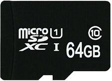 Tarjeta de Memoria MICROSD XC 64GB Clase 10 UHS 1 para Samsung Galaxy S4 J7 A5