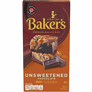 Baker's, Unsweetened 100% Cacao Baking Chocolate Bar