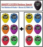 ULTRAK 310 Stopwatches - BAKER'S DOZEN Rainbow Special