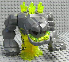 NEW Lego Power Miner Neon Green Huge ROCK MONSTER Yellow Geolix Figure 8963 8709